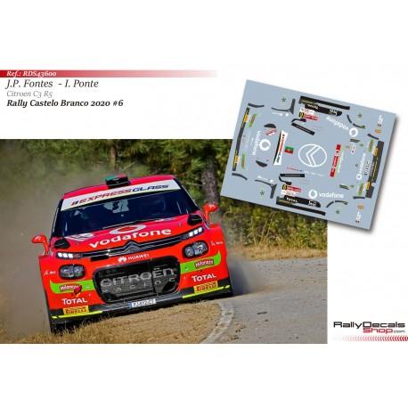 José Pedro Fontes - Citroen C3 R5 - Rally Castelo Branco 2020