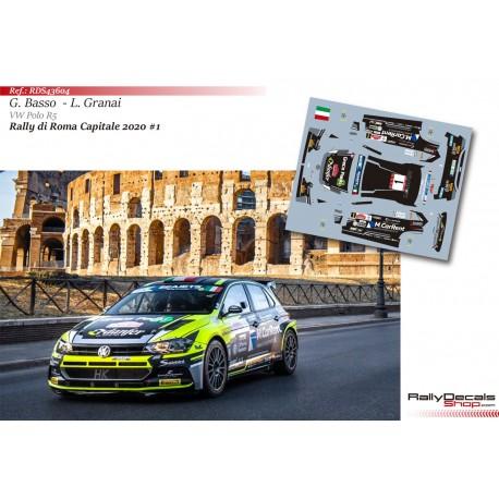 Giandomenico Basso - VW Polo R5 - Rally Roma 2020