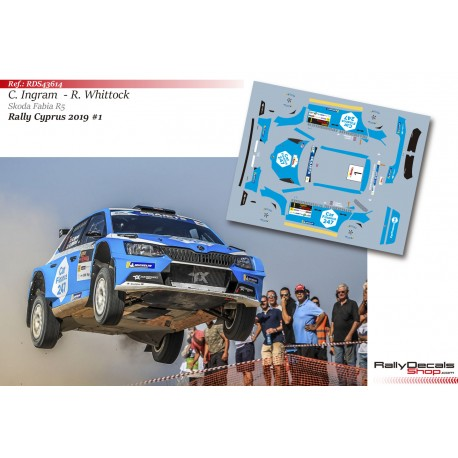 Chris Ingram - Skoda Fabia R5 - Rally Cyprus 2019