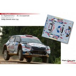 Kajetan Kajetanowicz - Skoda Fabia R5 Evo - Rally Estonia 2020