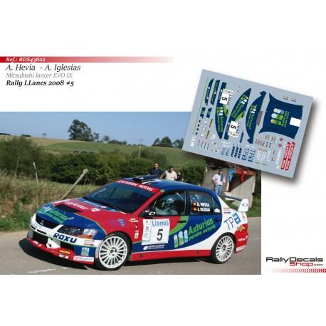 Alberto Hevia - Mitsubishi Lancer EVO IX - Rally Llanes 2008