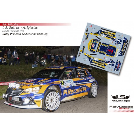 José Antonio Suárez - Skoda Fabia R5 Evo - Rally Princesa de Asturias 2020