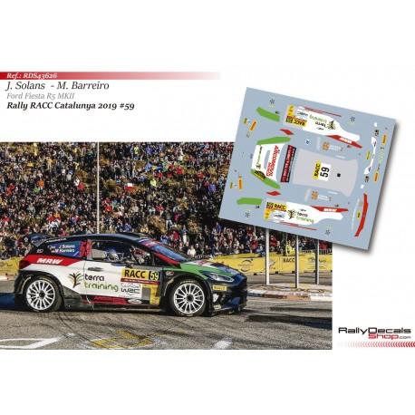 Jan Solans - Ford Fiesta R5 MKII - Rally Catalunya 2019