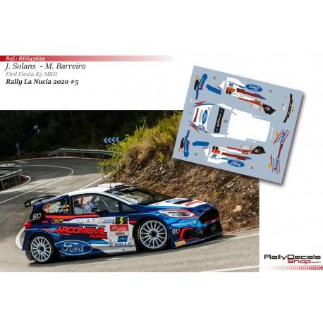Jan Solans - Ford Fiesta R5 MKII - Rally La Nucía 2020