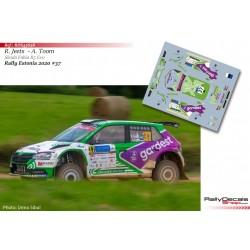 Raul Jeets - Skoda Fabia R5 Evo - Rally Estonia 2020