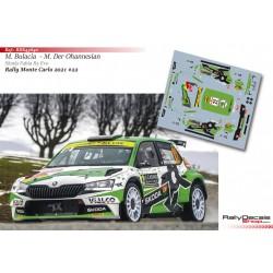 Marco Bulacia - Skoda Fabia R5 Evo - Rally Monte Carlo 2021