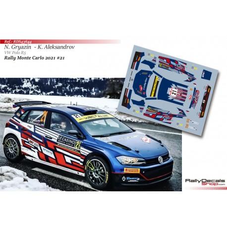 Nikolay Gryazin - VW Polo R5 - Rally Monte Carlo 2021