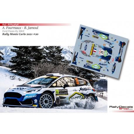 Adrien Fourmaux - Ford Fiesta R5 MKII - Rally Monte Carlo 2021