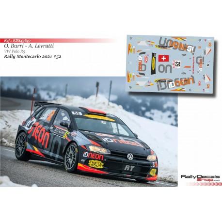 Olivier Burri - VW Polo R5 - Rally Monte Carlo 2021