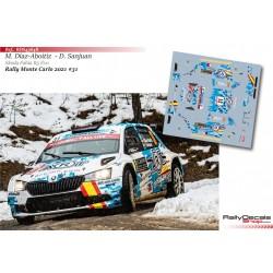 Miguel Díaz-Aboitiz - Skoda Fabia R5 Evo - Rally Monte Carlo 2021