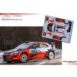 Oliver Solberg - Hyundai i20 R5 - Rally Monte Carlo 2021