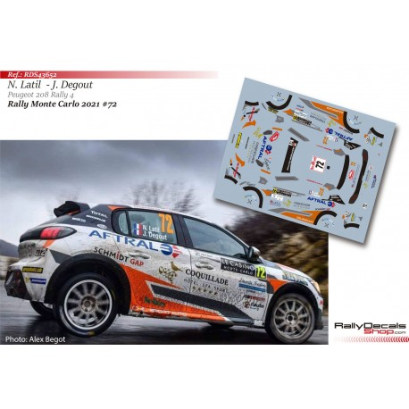 Nicolas Latil - Peugeot 208 Rally 4 - Rally Monte Carlo 2021