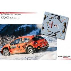 Davy Vanneste - Citroen C3 R5 - Rally Monte Carlo 2021
