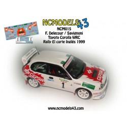 François Delecour - Toyota Corolla WRC - Rally El corte Inglés 1999
