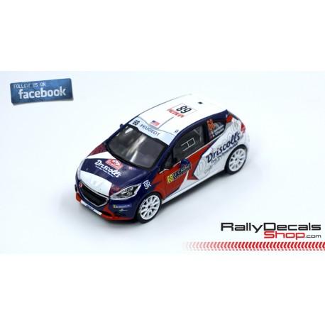 Peugeot 208 R2 - Sean Johnston - Rally MonteCarlo 2020