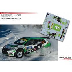 Eyvind Brynildsen - Skoda Fabia Evo Rally2 - Artic Rally Finland 2021
