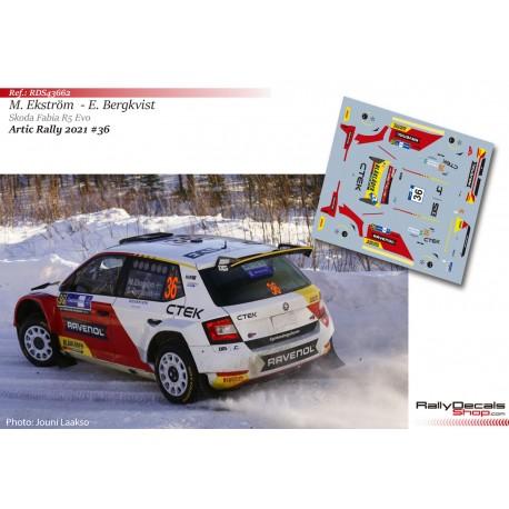 Mattias Ekström - Skoda Fabia R5 Evo - Artic Rally Finland 2021
