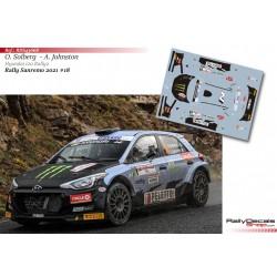 Oliver Solberg - Hyundai i20 Rally 2 - Rally Sanremo 2021
