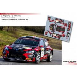 Jan Kopecky - Skoda Fabia Rally 2 Evo - Therwoolin Boldogkő Rally 2021