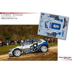 Emil Lindholm - Skoda Fabia Rally 2 Evo - Rally Croatia 2021