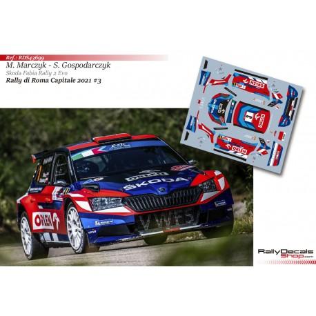 Mikołaj Marczyk - Skoda Fabia Rally 2 Evo - Rally di Roma Capitale 2021