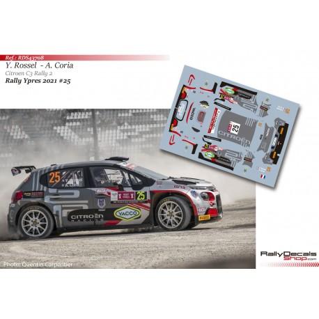 Yohan Rossel - Citroen C3 Rally 2 - Rally Ypres 2021