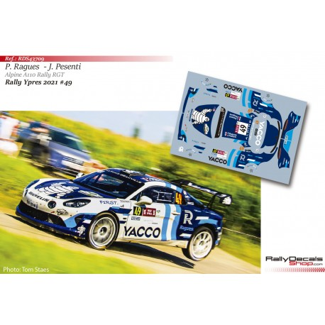 Pierre Ragues - Alpine A110 Rally RGT - Rally Ypres 2021