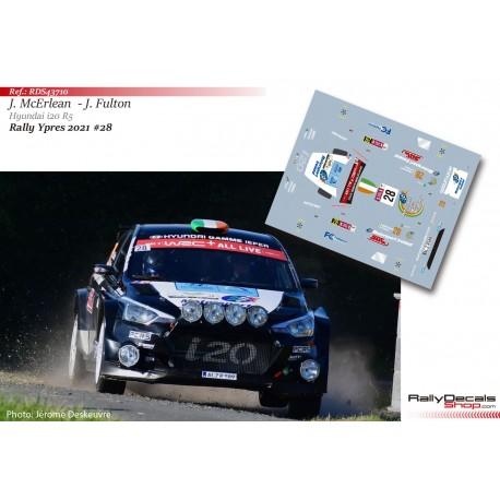 Josh McErlean - Hyundai i20 R5 - Rally Ypres 2021