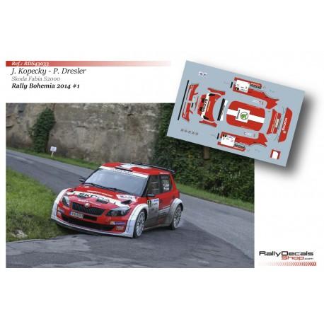 Jan Kopecky - Skoda Fabia S2000 - Rally Bohemia 2014