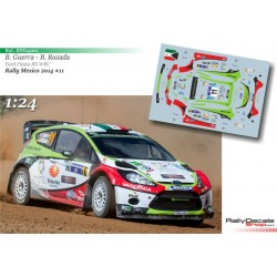 1/ 24 Scale - Benito Guerra - Ford Fiesta RS WRC - Rally Mexico 2014