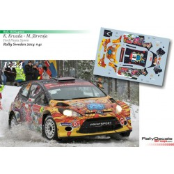1/24 Scale - Karl Kruuda - Ford Fiesta S2000 - Rally Sweden 2014