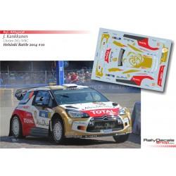 Juha Kankkunen - Citroen DS3 WRC - Helsinki Battle 2014
