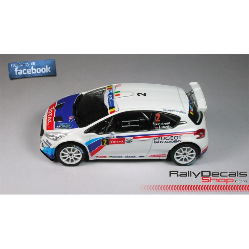 CRAIG BREEN PEUGEOT 208 T16 R5 Ypres Rally 2014 1:43 code3 diecast model