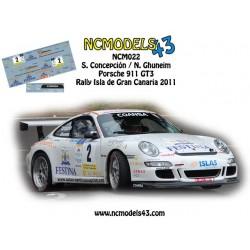 Santi Concepción - Porsche 911 GT3 - Rally Gran Canaria 2011
