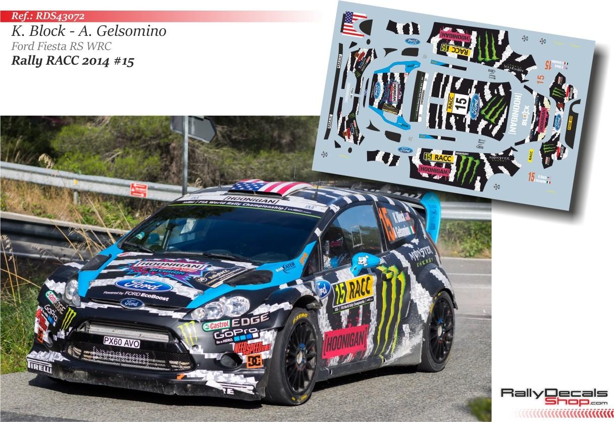 Ken Block Ford Fiesta Rs Wrc Rally Catalunya 2014 Rally Decals Shop