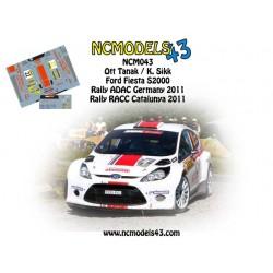 Ott Tanak - Ford Fiesta S2000 - Rally Catalunya Spain / Deutchsland 2011