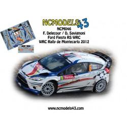 François Delecour - Ford Fiesta WRC - Rally Montecarlo 2012