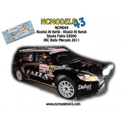 Rashid Al Ketbi - Skoda Fabia S2000 - Mecsek Rallye 2011