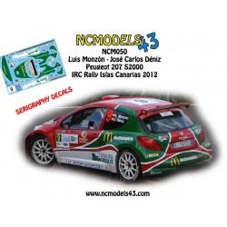 Luis Monzón - Peugeot 207 S2000 - Rally Islas Canarias 2012